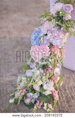Flower arrangement from various beautiful flowers