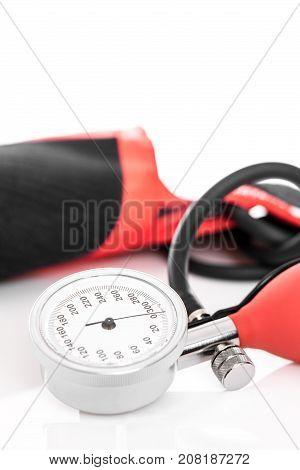 Closeup Of A Blood Pressure Monitor Or Sphygmomanometer