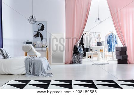 Fashionable Bedroom With Dressing Room