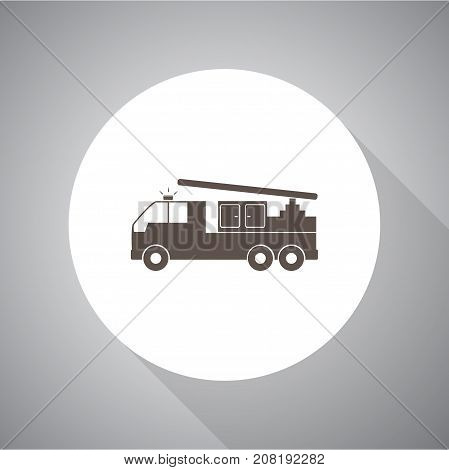 fire engine. Vector icon for web and mobile.