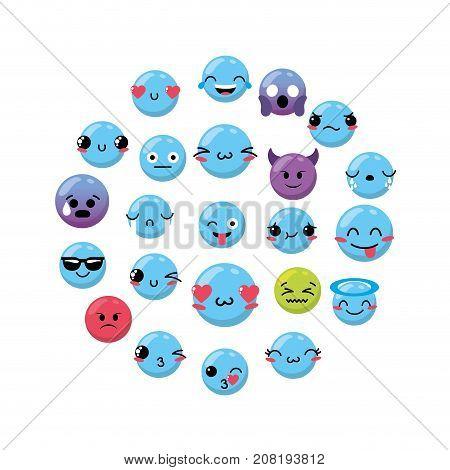 emoji emtion expresion backgroun design vector illustration
