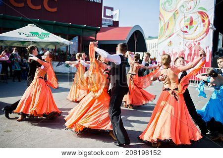 Ternopil, Ukraine - October 1, 2017: Ballroom Dancing Kids At Podolyany Show.