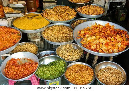 Various Snacks And India Dishes
