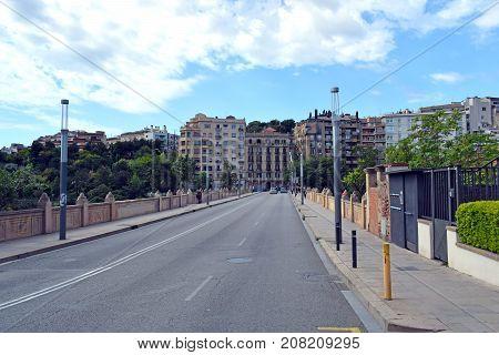 Bridge Vallcarca constructed in Barcelona Catalonia Spain