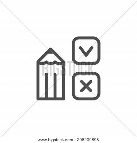 Survey line icon isolated on white. Vector illustration