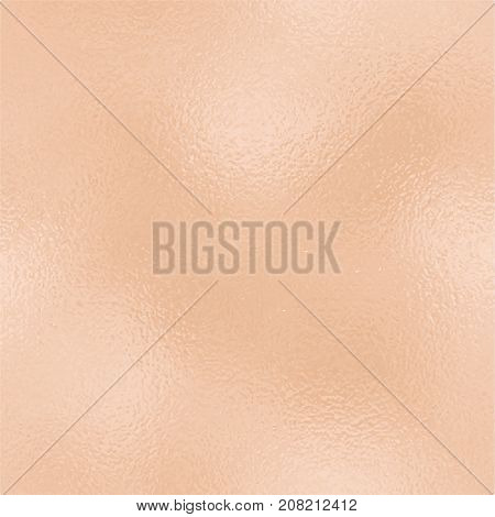 Metallic golden foil texture. Rose gold foil square vector background. Vintage golden texture swatch. Golden foil backdrop for elegant wedding invitation. Romantic gold wallpaper or banner template