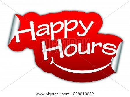 happy hours sticker happy hours red sticker happy hours red vector sticker happy hours happy hours eps10 design happy hours