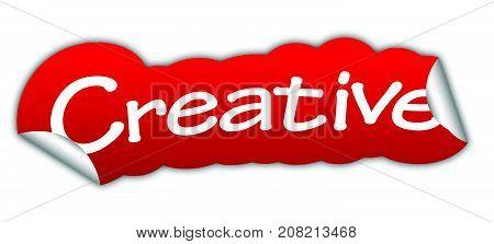 creative sticker creative red sticker creative red vector sticker creative creative eps10 design creative sign creative
