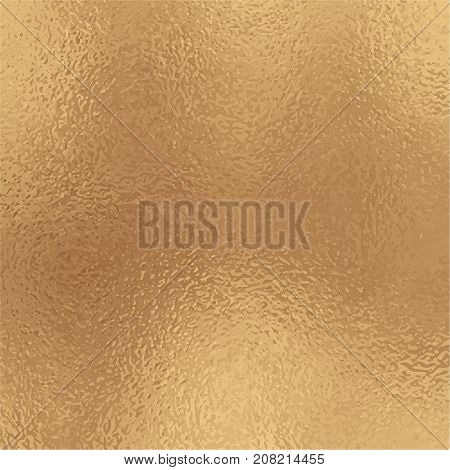 Metallic golden foil texture. Antique gold foil square vector background. Vintage golden texture swatch. Golden foil backdrop for elegant wedding invitation. Antique gold wallpaper or banner template
