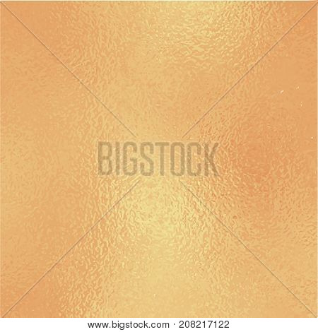 Metallic golden foil texture. Shiny gold foil square vector background. Vintage golden texture swatch. Golden foil backdrop for elegant wedding invitation. Autumn gold wallpaper or banner template