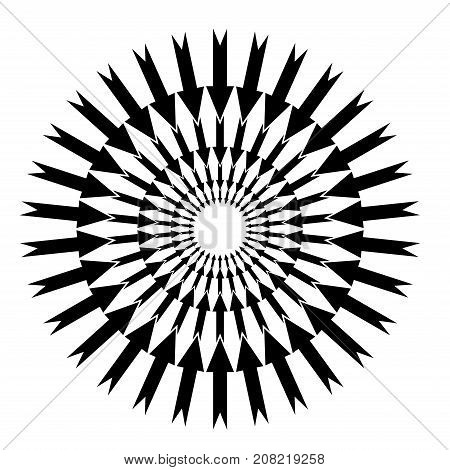 Arrows In A Circle. Original Background. Business Pattern In A Modern Style On A White Background. C