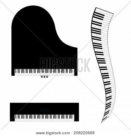 Piano And Synthesizer Vector Illustration
