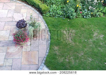 A lawn that has been damaged by chafer bug