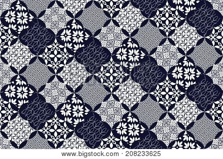 Seamless pattern with colorful patchwork. Seamless background for textile wallpaper pattern fills covers surface print gift wrap packaging paper ceramic tile