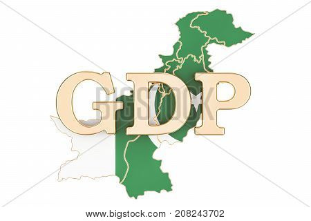 gross domestic product GDP of Pakistan concept 3D rendering isolated on white background