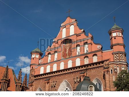 Church of St. Francis and Bernadine in Vilnius Lithuania