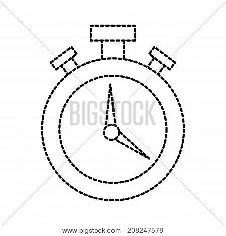 logistic delivery chronometer timer hour plan vector illustration