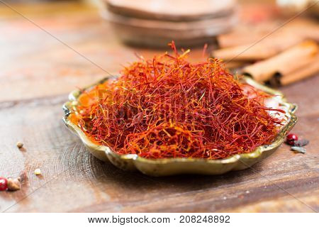 Real Red Dried Saffron Spice, Tasty Ingredient For Many Dishes