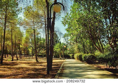 Presidential Park in Nicosia Cyprus in October