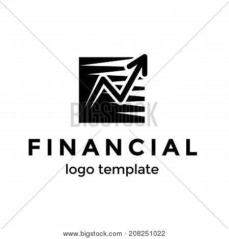 Good progress of increase money or success logo symbol vector illustration. Modern arrow logo design