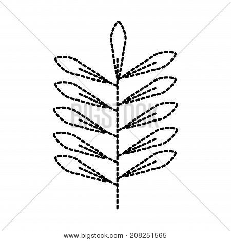 branch leaves natural foliage flora icon vector illustration