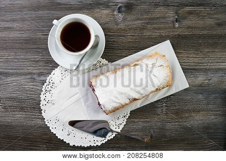 Delicious Strudel With A Cherry