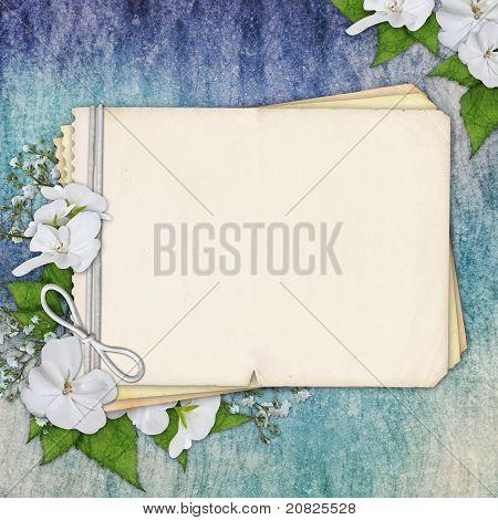 Grunge Paper Design For Information