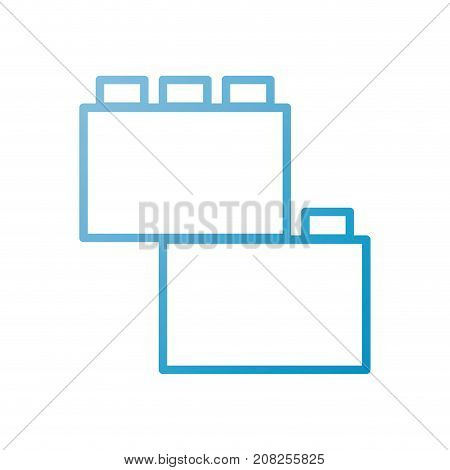 module brick lego piece of puzzle toy icon vector illustration