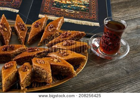 Homemade Baklava Or Pakhlava With Nuts And Honey