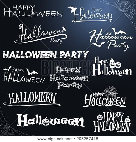 Different Halloween Letterings