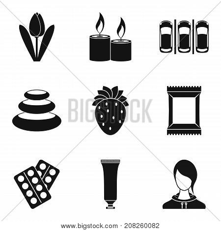 Warming up icons set. Simple set of 9 warming up vector icons for web isolated on white background