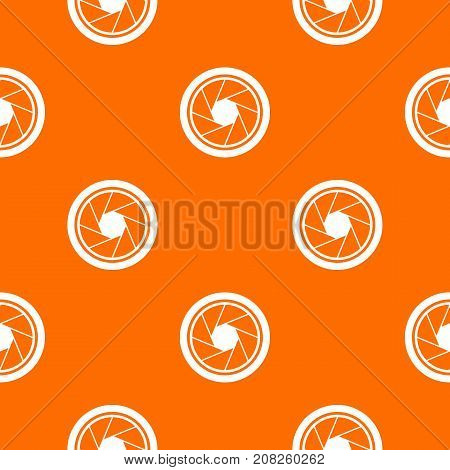 Photographic objective pattern repeat seamless in orange color for any design. Vector geometric illustration
