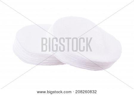 Cotton pads photo on white background isolation