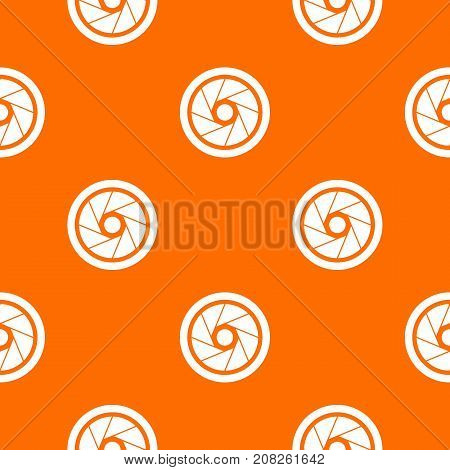 Small objective pattern repeat seamless in orange color for any design. Vector geometric illustration