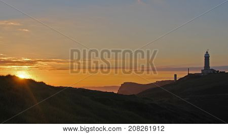 Cabo Mayor lighthouse overlooking the Cantabrian Sea in Santander, Spain