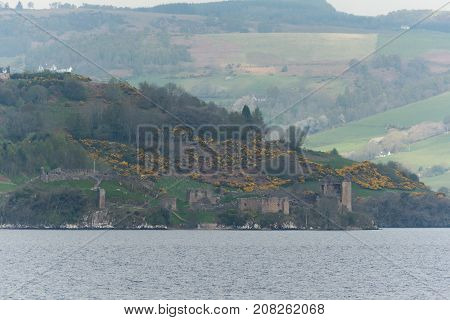 Urquhart Castle On Loch Ness Lake, Scotland
