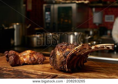 Delicious Barbecued Lamb Ribs