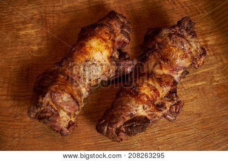 Delicious Roasted Lamb Leg
