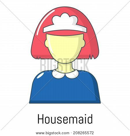 Housemaid icon. Cartoon illustration of housemaid vector icon for web