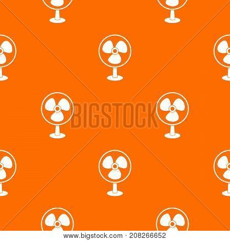 Ventilator pattern repeat seamless in orange color for any design. Vector geometric illustration