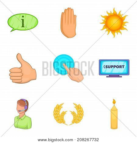 Philanthrope icons set. Cartoon set of 9 philanthrope vector icons for web isolated on white background