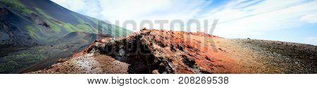 Lunar Landscape on the Sides of Mount Etna