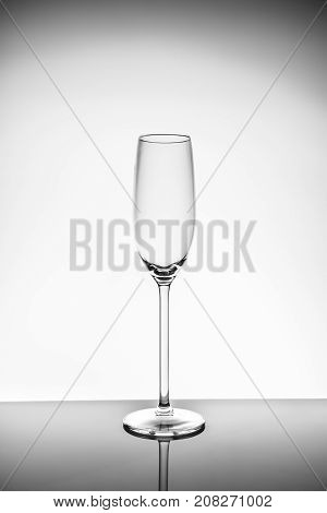 Champagne Glass  On The Light Background
