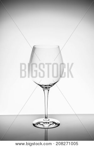 Red Wine Glass  On The Light Background
