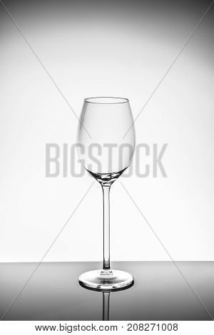 Wineglass  On The Light Background