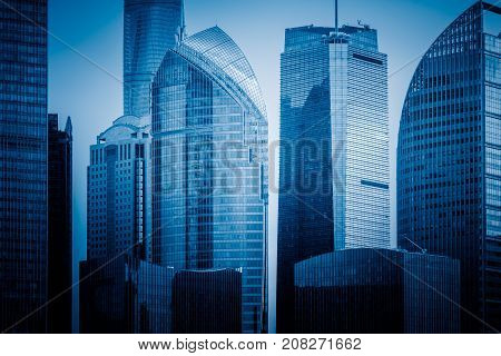 the cityspace and skyline of shanghai china.