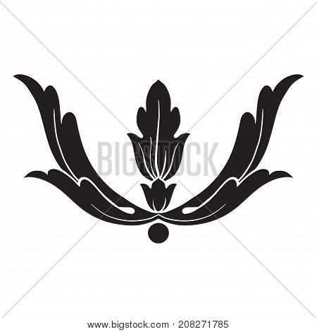Vintage baroque ornament. Retro pattern antique style acanthus. Decorative design element filigree calligraphy.