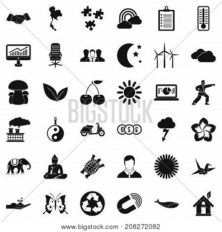 Harmony icons set. Simple style of 36 harmony vector icons for web isolated on white background