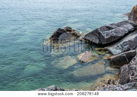 Picture of the Pebble beach of Superior Lake Canada