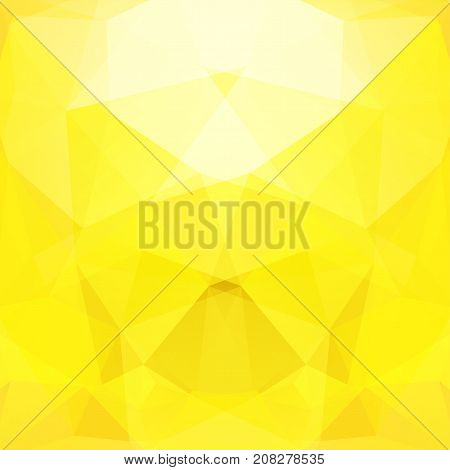 Background Made Of Yellow Triangles. Square Composition With Geometric